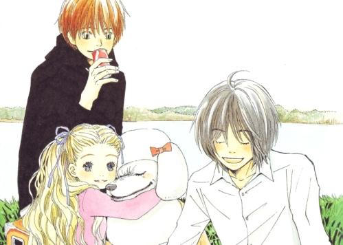From left to right; Takemoto, Hagumi, Morita